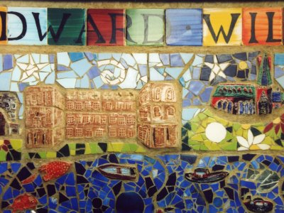 Edward Wilson school - Regents Canal ceramic mural