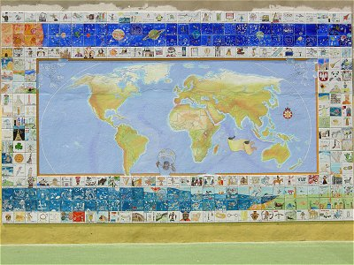 St Saviour's History of the World mural